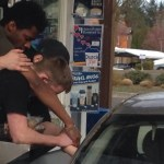 Youth Pray for Grieving Widow at Drive-Thru Window