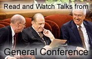 Picture of First Presidency at General Conference