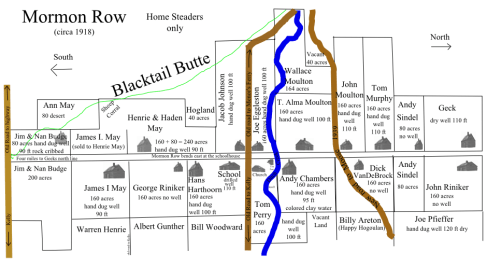 Mormon Row Map