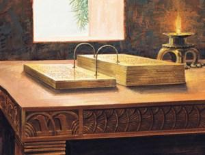 Gold Plates Book of Mormon replica