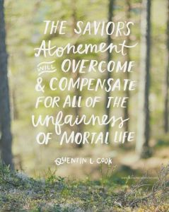 Atonement compensates for unfairness