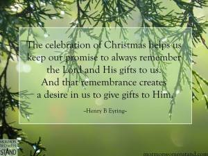 Christmas reminds us to keep our promises to God.