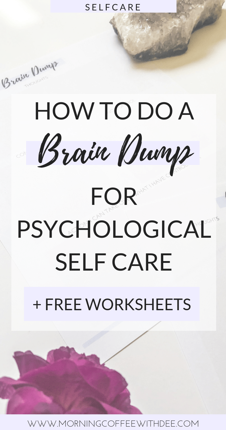 photo relating to Brain Dump Worksheet referred to as How in direction of do a Intellect Dump for Emotional Self Treatment + No cost