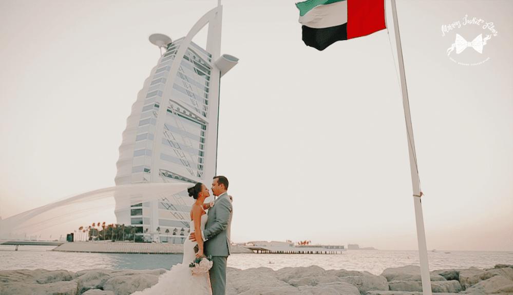 Lovely wedding at Jumeirah Beach Hotel - Burj Al Arab backdrop