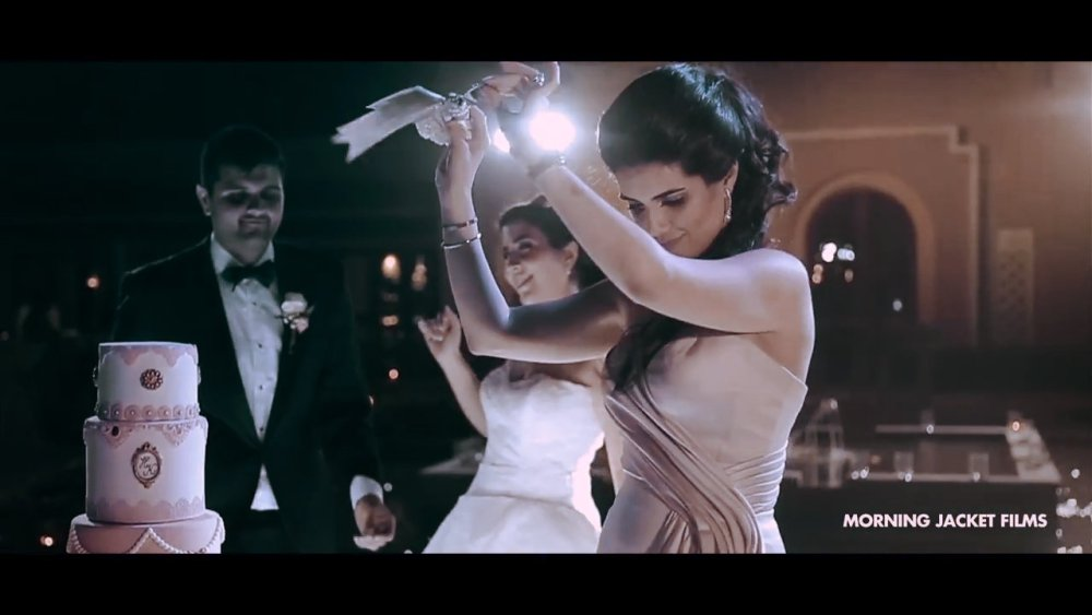 Persian Wedding Cake Dance - Dubai Polo Equestrian Club Romantic Wedding - Morning Jacket Films