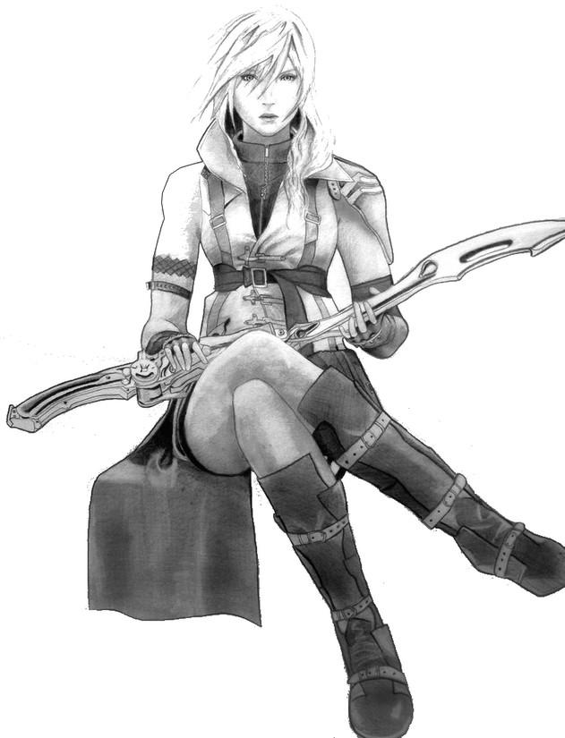 Malvorlagen Final Fantasy Final Fantasy XIII Lightning 4