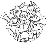 Desenho para colorir Três Mosqueteiros