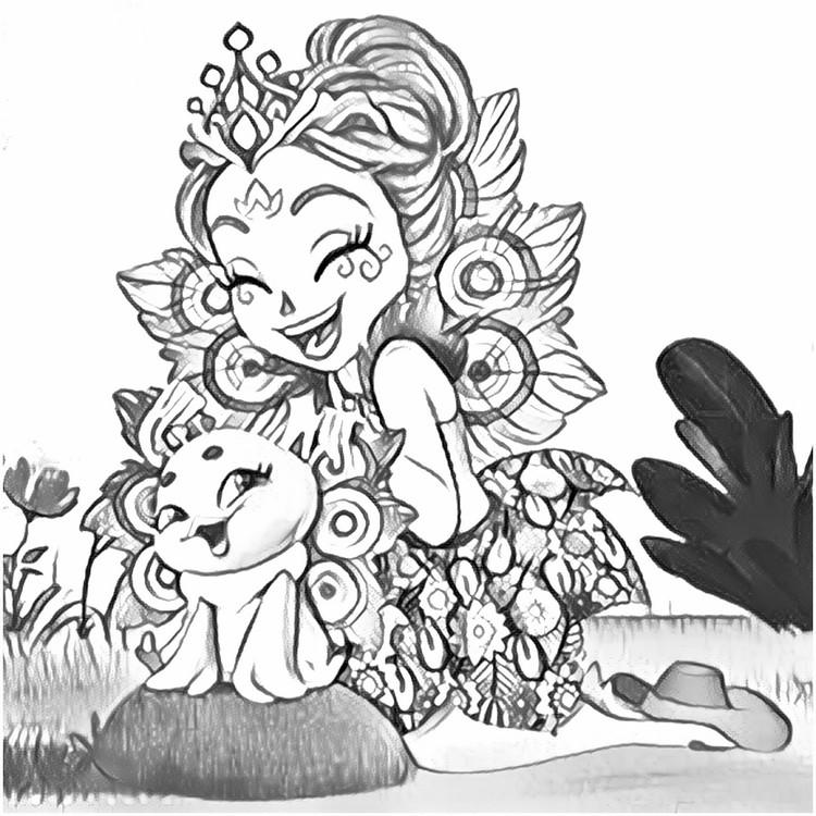 Coloring Page Enchantimals 7