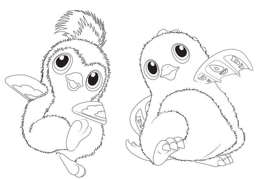 Coloring Pages Hatchimals Morning Kids