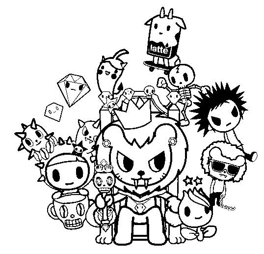 coloring page tokidoki  royal pride 4