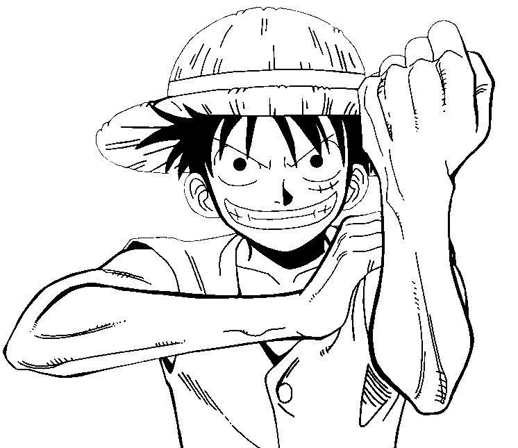 coloring page one piece 12