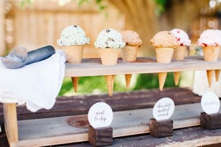 ice cream wedding food station ideas
