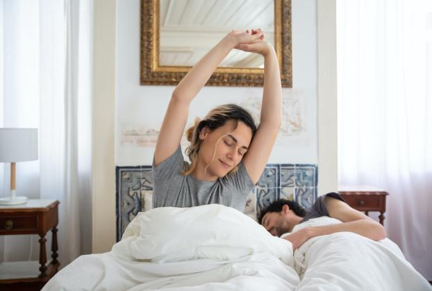 couple healthy sleep