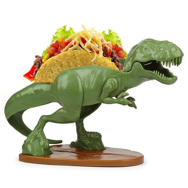 Funwares, Tacosaurus T-Rex Dinosaur Taco Stand Holds 2 Tacos