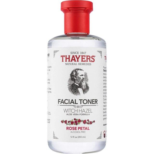THAYER'S Alcohol-Free Rose Petal Witch Hazel Facial Toner with Aloe Vera Formula