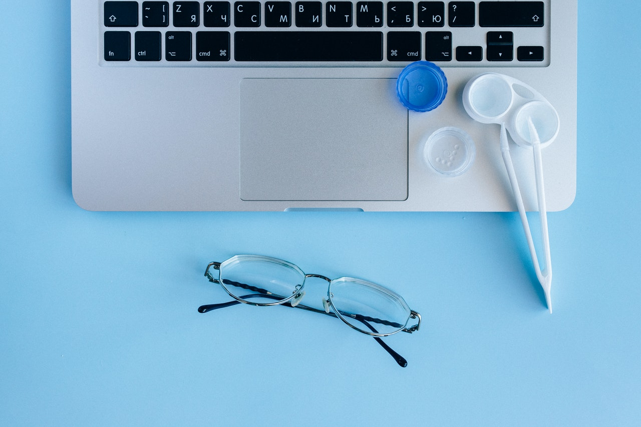 eyeglasses or contact lenses