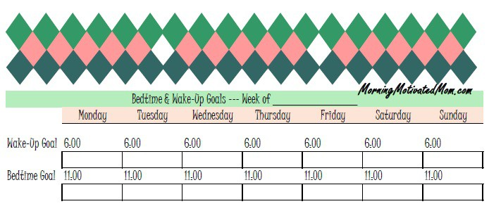How Short Challenges and Mini Goals Work for Me. Bedtime and Wake Up Goals Schedule
