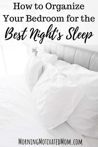 Do you wish you could get a better night of sleep? A cluttered bedroom will not help! Here is How to Organize Your Bedroom for the Best Night's Sleep. Tips for Sleeping.