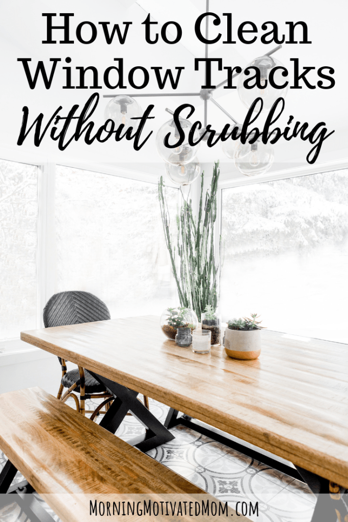 How to Clean Window Tracks Without Scrubbing in 4 steps. Inexpensive and easy way to clean your window tracks using vinegar. | Home Cleaning | Spring Cleaning | Window Cleaning Tips | Cleaning Tips #cleaningtips #cleaning #springcleaning