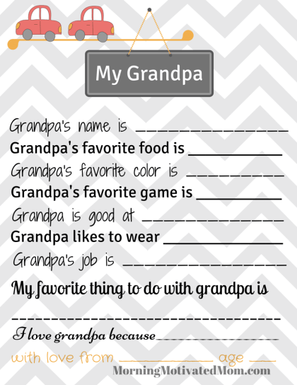 My Grandpa Printable Page