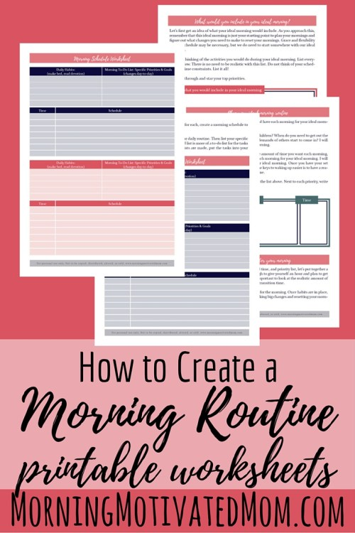 How to Create a Morning Routine: Free Printable Worksheets