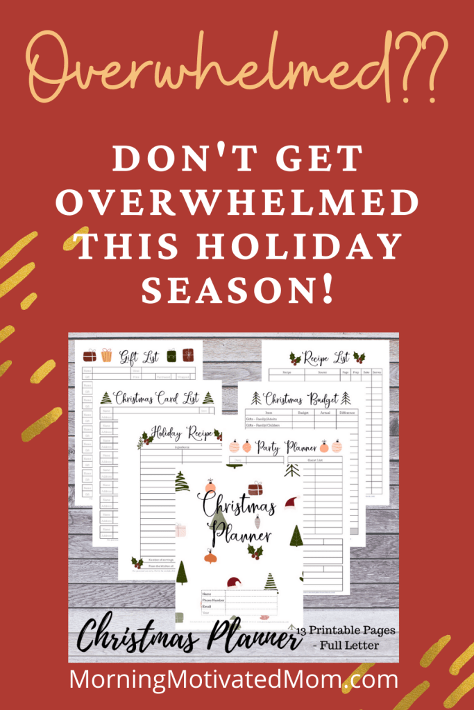 Get Organized this Christmas with the Christmas Planner. The holiday season often brings overwhelm & stress. Use the planner to get organized!
