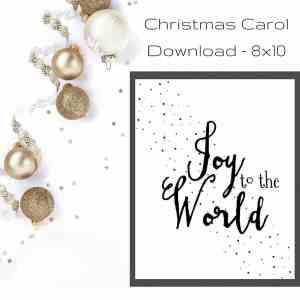 Joy to the World Christmas Printable