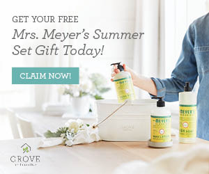 Summer Cleaning Set. Get a Free Mrs. Meyers Cleaning Kit. How Grove Collaborative works. Get products mailed conveniently to your home. It's easy to skip a month if needed!