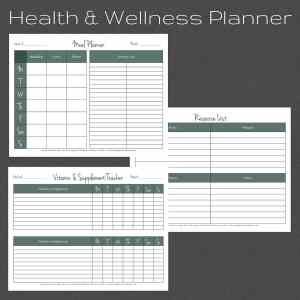 Health, Wellness, Fitness Planner. Meal Planner. Vitamin/Supplement Tracker and more!