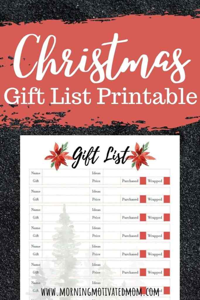 Christmas Gift List Printable. Get organized and think ahead with your holiday gift shopping. Keep track of your gifts on this free Christmas Gift List Printable.