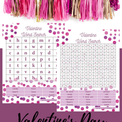 Valentine's Day Word Search Printables