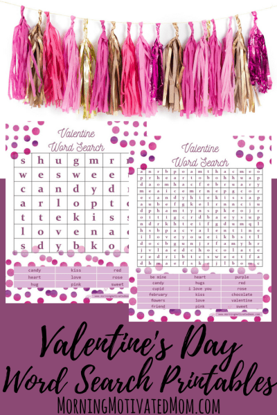 Valentine's Day Word Search Printables Free