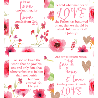 Scripture LOVE printables