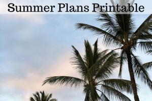 Summer Plans Printable
