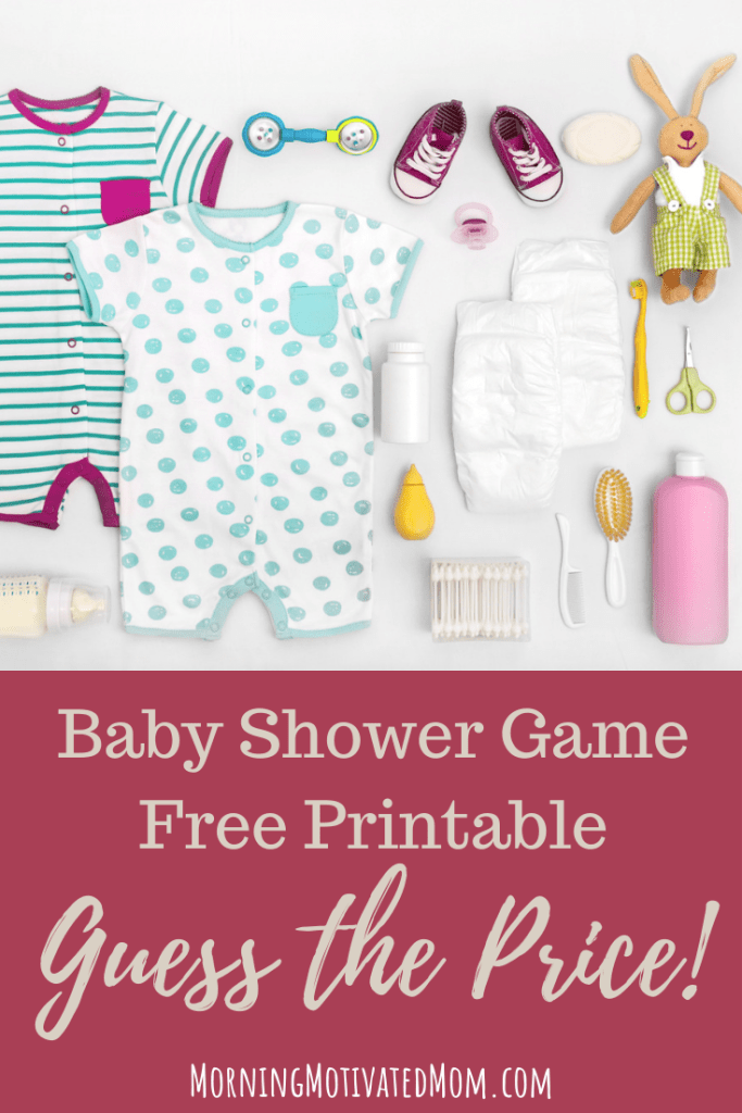 Free Baby Shower Printable. Guess the Price. This baby girl shower game is perfect for after the baby has arrived. Have the guest guest the price of the baby items. See who gets the closest! #showergames #babyshower