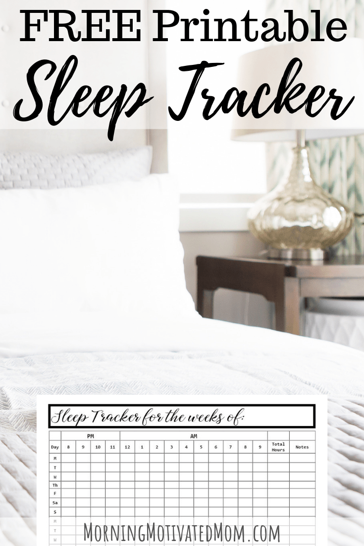 photo about Sleep Tracker Printable referred to as Slumber Tracker Printable Early morning Influenced Mother