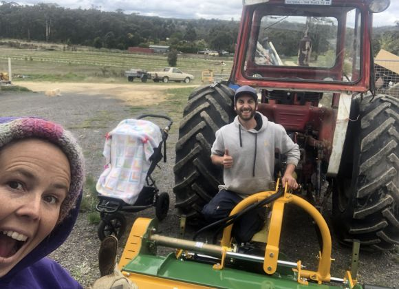 Flail of a time with our new mower