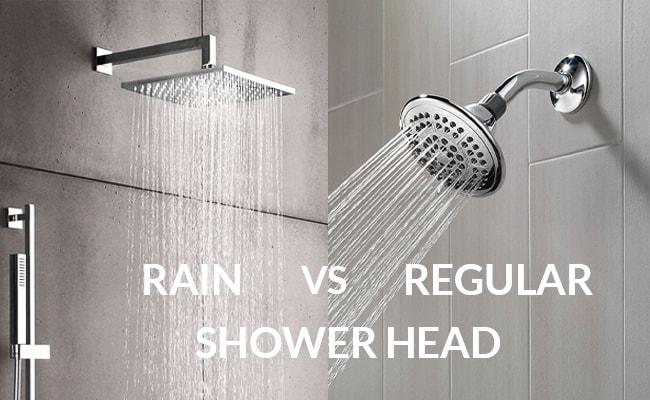 rain shower head vs regular shower head