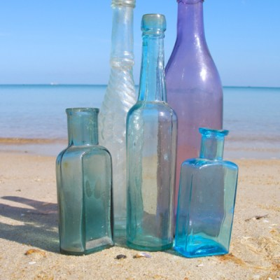 Bottles from the past by Mornington Sea Glass