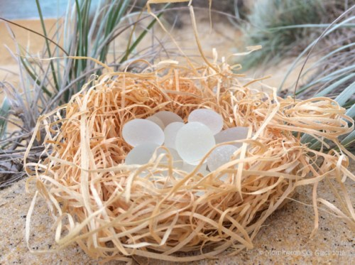 "Nest of Sea ""Eggs' by Mornington Sea Glass"