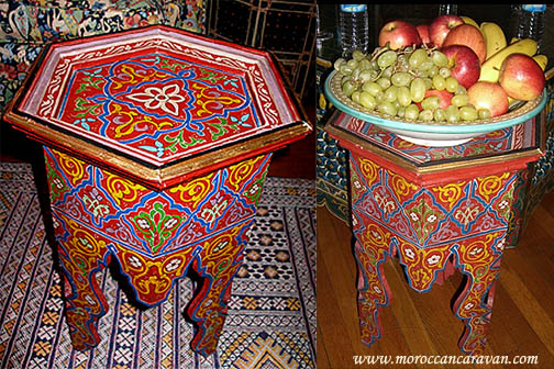 Moroccan Handpainted Table Tables Wood Amp Furniture From Morocco At Moroccan Caravan