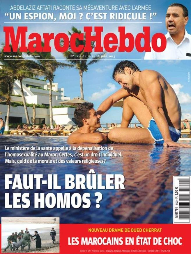 Moroccan Magazine Under Fire for Cover Asking 'Should We Burn Homosexuals'