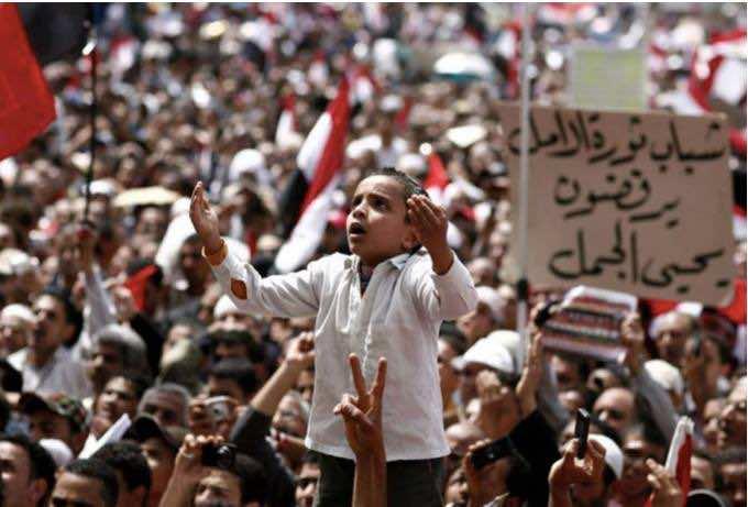 Arabische Millennials kämpfen 2011 für Demokratie