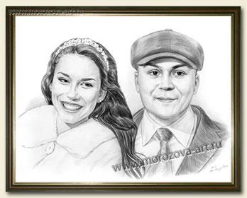 Фотореалистичные карандашные портреты в подарок вашим ...