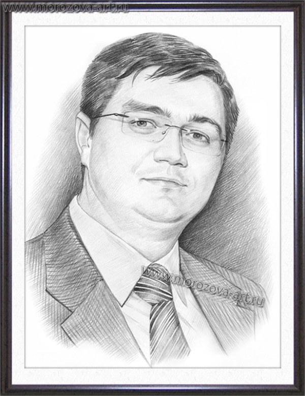 Нарисуем похожий мужской портрет карандашом, карандашные ...