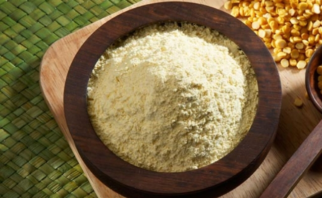 Image result for Gram flour and rose water