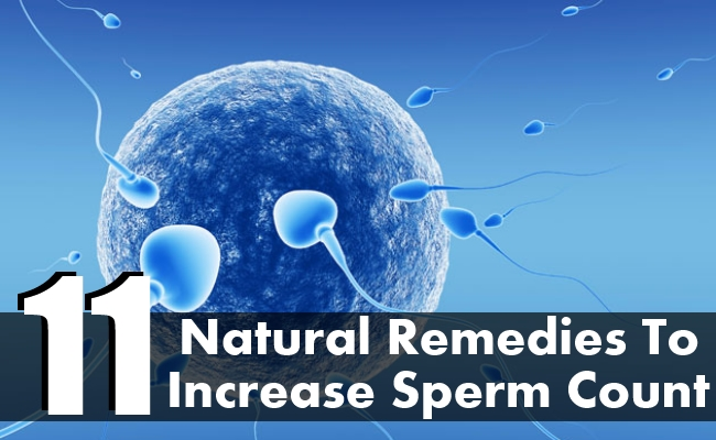 Natural Remedies To Increase Sperm Count