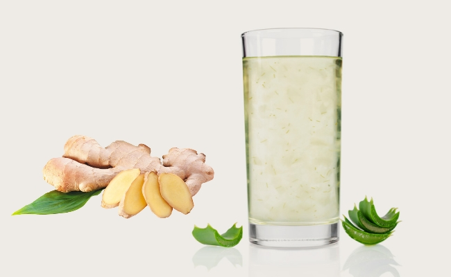Aloe Vera And Ginger Drink