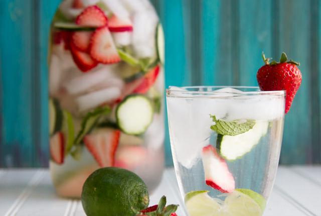 Strawberry-Cucumber-Mint Water