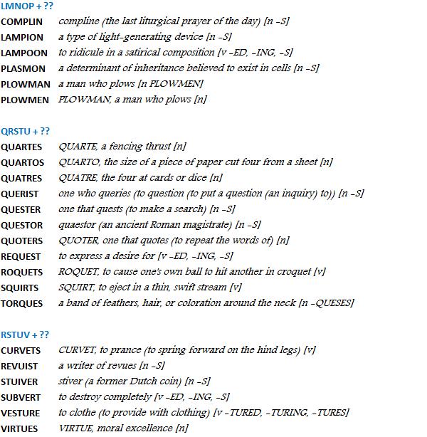 Bingo List #2